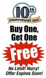 Buy 1 Get One FREE offer